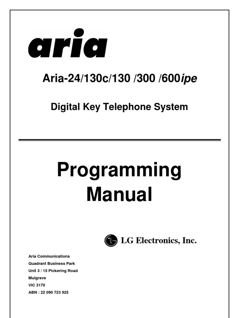 Lg+aria+24+130+26+300+programming | telephone numbering plan.