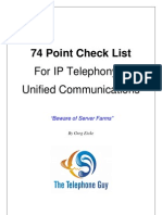 IP Telephony Check List