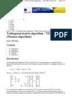 Tridiagonal Matrix Algorithm2