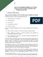 Synthese Des Reponses a La Consultation Publique Sur Le Cloud Et Analyse de La CNIL