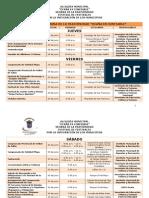 Cronograma Semana de La Fraternidad 2012