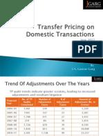 Domestic Transfer Pricing - India