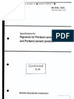 BS 1014-1975 Specification for Pigments for Portland Cement and Portland Cement Products
