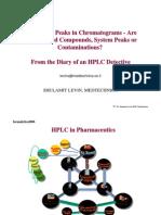 Extraneous Peaks in HPLC