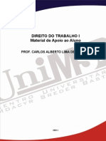 Apostila de Direito Do Trabalho I - 2010 - Prof Carlos Alberto Lima de Almeida