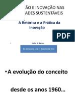 Educação e inovação nas sociedades sustentáveis - Hélio G. Barros