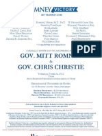 Evening with Mitt Romney & Gov. Chris Christie for Romney Victory Inc.