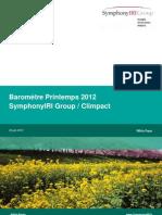 Baromètre Climpact SymphonyIRI Printemps 2012