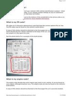 Audi PR Codes