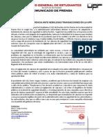 CGE A20-06-12 Comunicado de Prensa - RECLAMAN TRANSPARENCIA, SEGURIDAD UPRRP