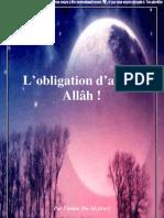 L'Obligation d'Aimer Allah