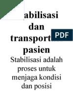 Stabilisasi Dan Transportasi Pasien