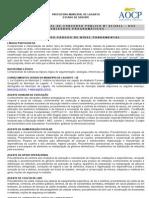 Anexo II Edital Abertura Conteudo Programatico Lagarto