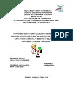 Proyecto de Aprendizaje Futbol Sala (Recepcion y Pase)