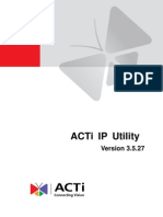 ACTi IP Utility 3.5.27 User Manual