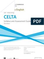 Celta Syllabus Assessment Guidelines 2011