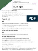 Concepto de ACL en Squid