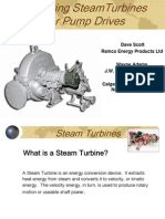Steam Turbines for Pump Drives