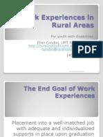 Work Experiences Rural Final