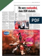 thesun 2009-01-07 page10 we were manhandled claim usm students