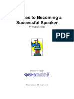 26 Rules To Becoming A Successful Speaker