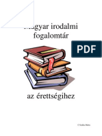 Magyar irodalmi  fogalomtár