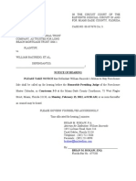 Baciredo, William - Notice of Hearing - Case #08-057678 CA 21