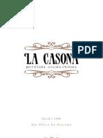Carta La Casona