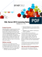 SQL Server 2012 Licensing Datasheet and FAQ Mar2012