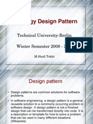 Strategy Design Pattern Software Engineering Software Design Pattern Class Computer Programming