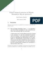 Ejercicios métodos matemáticos