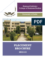 SSCBS Placement Brochure 2012-13
