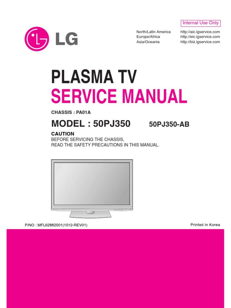 Servicemanuals Lg Tv Plasma 50pj350 Service Manual Auto Schematics Samsung Lcd Circuit Boards
