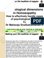 Psychological Dimensions in Homeopathy