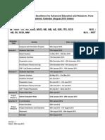 Academic Calendar - August 2010
