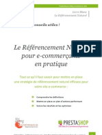 Guide Referencement Naturel PrestaShop BlogEcommerce