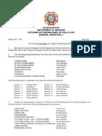 July General Orders-2012