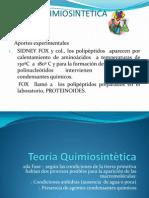 Teoria Quiumiosintética  desde 2da Fase