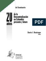 Descentralización en Colombia y Bolivia y la democratización en América Andina