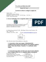 Prova Microsoft Office Word 2007