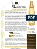 L'Oreal Professionnel - Mythic Oil Press Release May2012