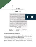 La Investigacion Tecnologica - Reflexiones - Freddy Bello