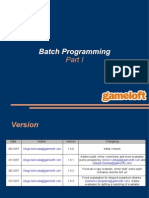 Batch Programming