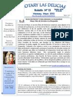Boletin Rotary N°15 Mayo 2012