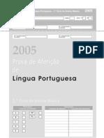 Prova de Afericao LP 1 Ciclo 2005