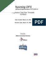 Regression Test Plan Template