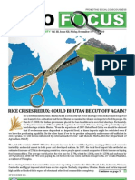 Bhutan Observer Focus - Food Security