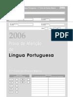 Prova de Afericao LP 1 Ciclo 2006
