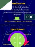 SISTEMAS INTEGRADOS 9001 14001 OHSAS 18001