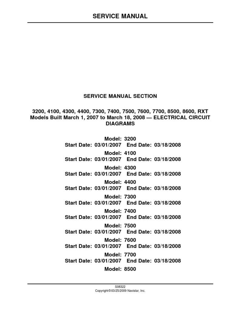 2009 International Prostar Radio Wiring Diagram Excellent Service Manual Electrical Circuit Diagrams Rh Scribd Com 2013 Harness
